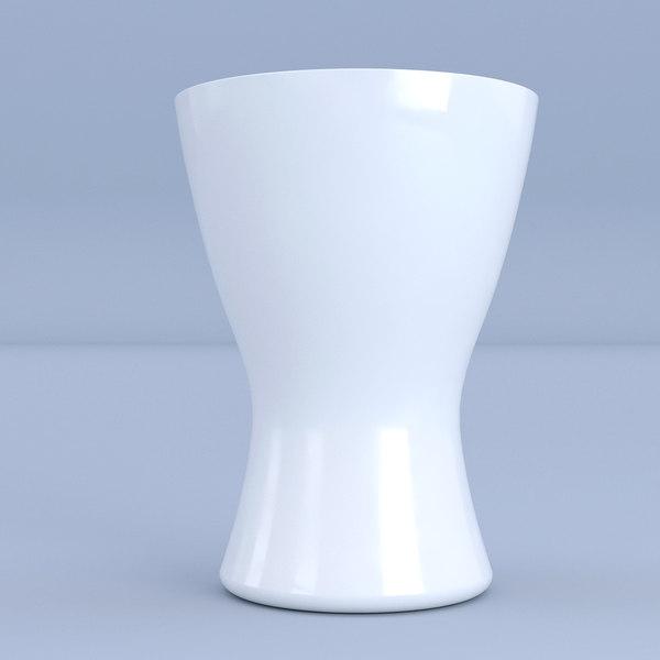 white vase 3D model