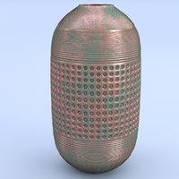3D copper vase