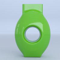 green glass vase 3D model