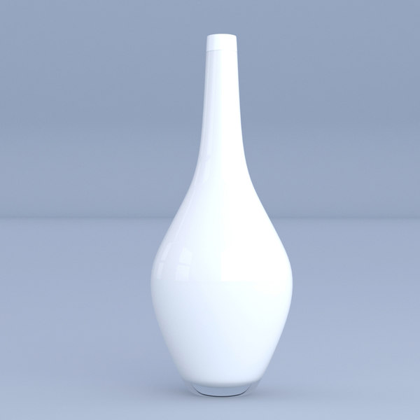 white vase ceramic 3D model