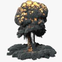 explosion simulate fumefx 3D model
