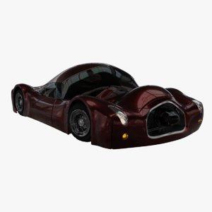 concept car cartoon style 3D model