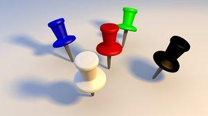 3D model push pins