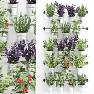 3D decorative plants kitchen railing