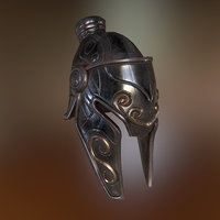 3D knight helmet model