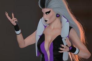 3D queen sindel female rigged