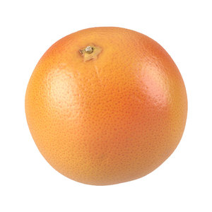 photorealistic scanned grapefruit 1 3D