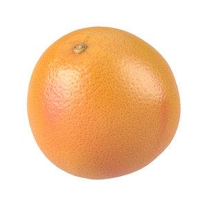 photorealistic scanned grapefruit model