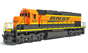 locomotive bnsf 3D model