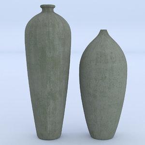 cement vase 3D model