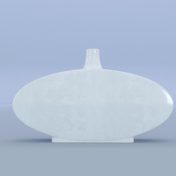 vase white ceramic 3D model