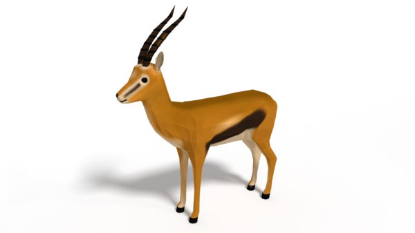 thompson gazelle nature 3D model