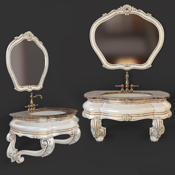 classic washbasin mirror 3D model