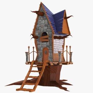 3D real cartoon house