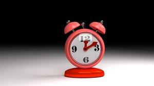 clock animation 3D model