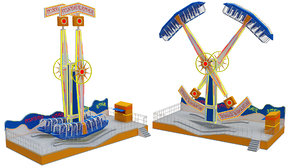 3D model funfair rider