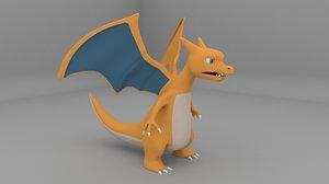 3D charizard pokemon model