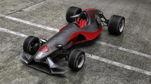 3D fictional formula car model