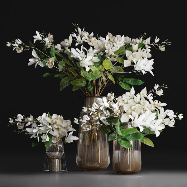 3d Flower Bouquet Jasmine Gardenia Turbosquid 1447574