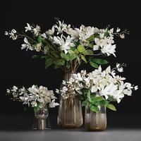 Gardenia-Cape Jasmine  Flower Bouquet Vase