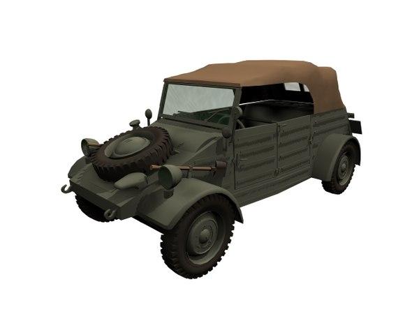 3D wagen wwii german model