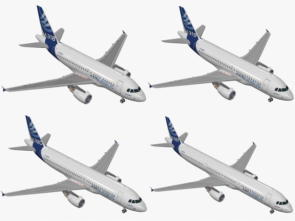 3D airbus a320 family house