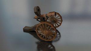 gatling gun cannon 1860 3D