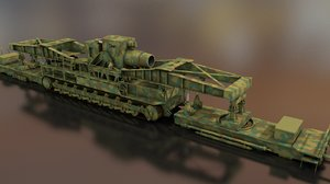 karl gerat morser mortar 3D model