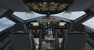 3D model 787 dreamliner cockpit