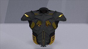 3D model futuristic chest armor