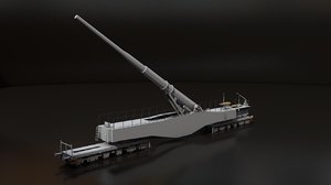 3D leopold german railway gun