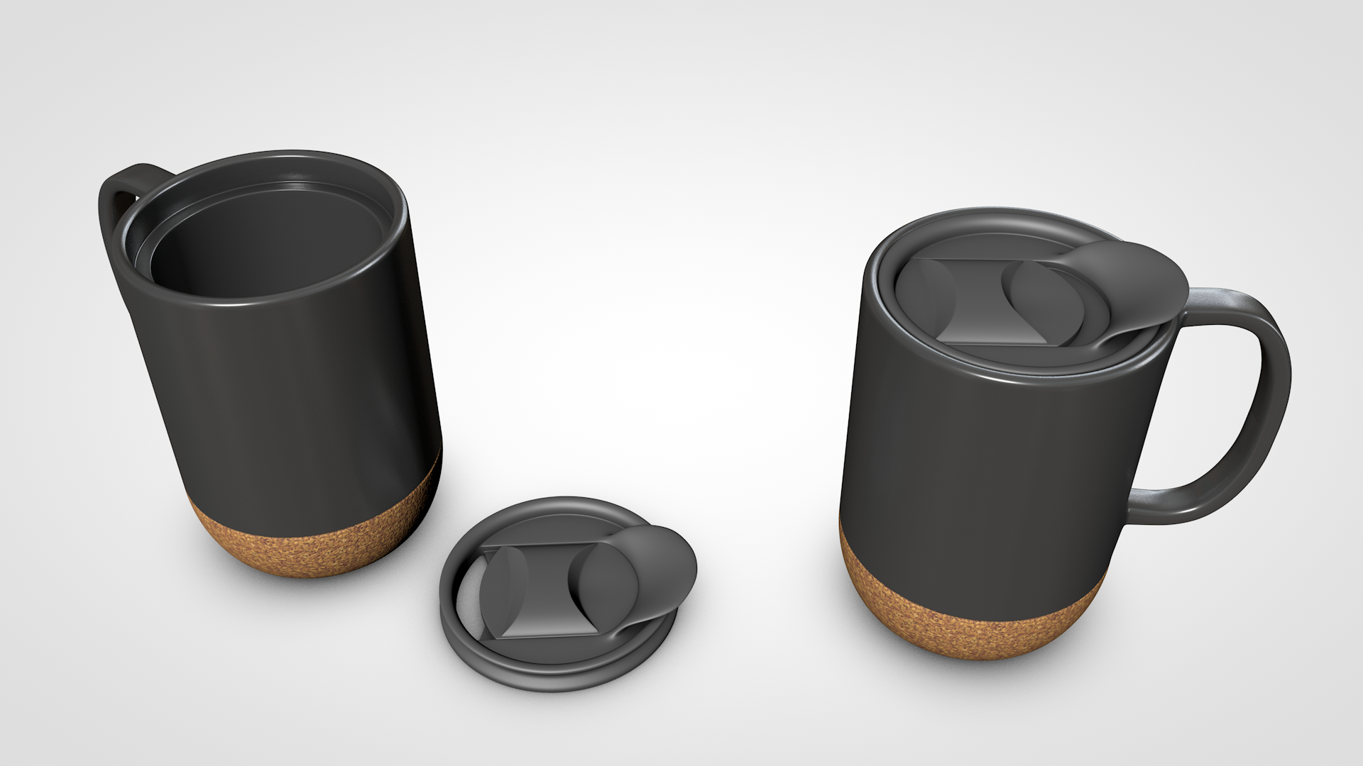 3D coffee mug concept