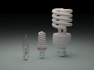 3D model lighting bulbs