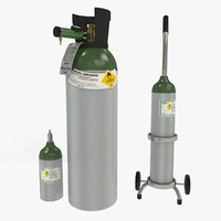 medical oxygen tanks 3D
