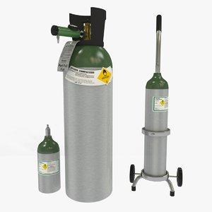 medical oxygen tanks 3D