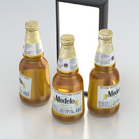 Beer Bottle Modelo Cerveza 355ml