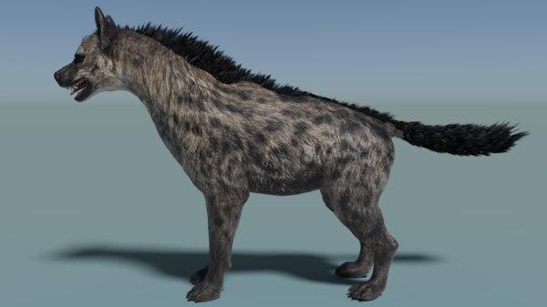 3D hyenas rigged