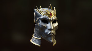 3D helmet king arthur