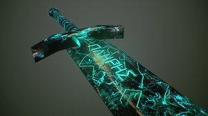 3D model sword object polygons