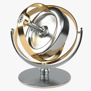 3D gyroscope toy