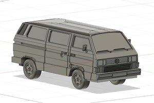 3D vanagon van model