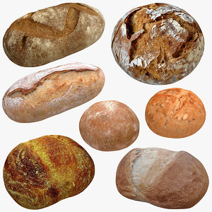 3D realistic bread model
