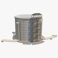 3D industrial silo