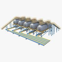 industrial silo 3D