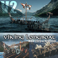 viking longboat 2020 redshift 3D