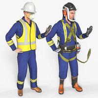 3D coveralls equipment unreal -