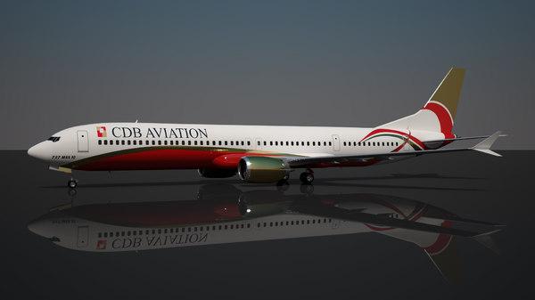 cdb aviation 737 10 3D model
