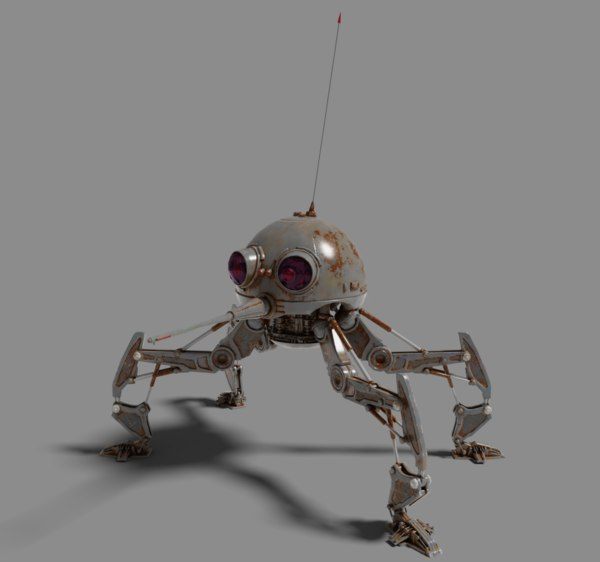 mosquito spider rigged 3D model