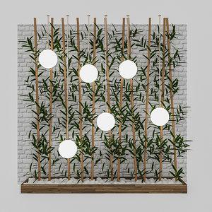 3D bamboo decor