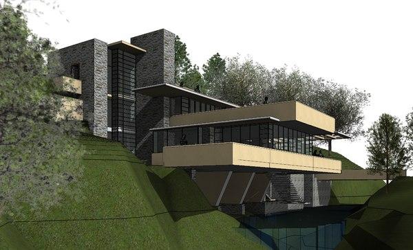 revit building house 3D model